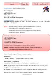 Description – identification – Anglais – Famille Vadrouille : 5eme Primaire