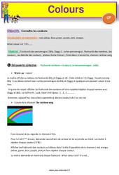 Colours – Anglais : 1ere Primaire