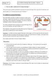 Electron – Conduction électrique dans les métaux – Cours – Physique – Chimie : 3eme Secondaire