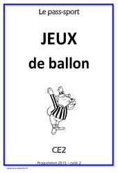 Jeux de ballon – Cycle complet EPS : 3eme Primaire