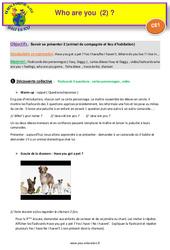 Who are you (2) – Anglais : 2eme Primaire