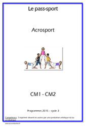 Acrosport – Cycle complet EPS : 4eme, 5eme Primaire