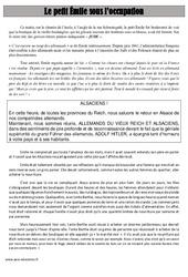 Le petit Émile sous l'occupation – Lecture – Récit – 2ème guerre mondiale – Histoire : 5eme Primaire