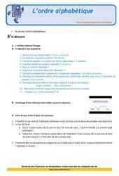 L'ordre alphabétique – Soutien scolaire – Aide aux devoirs : 2eme Primaire