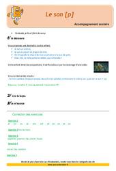 Le son [p] – Soutien scolaire – Aide aux devoirs : 2eme Primaire