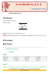 M devant m, b, p – Soutien scolaire – Aide aux devoirs : 2eme Primaire
