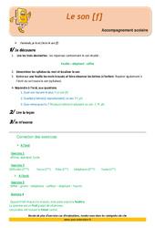 Le son [f] – Soutien scolaire – Aide aux devoirs : 2eme Primaire