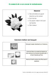 Créer un bouquet de roses en papier pour le printemps – Arts plastiques : 3eme, 4eme, 5eme Primaire