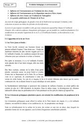 Evolution biologique et environnement – Cours – SVT : 3eme Secondaire