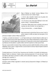 Le chariot – Production d'écrit – Récit – Lecture : 3eme Primaire