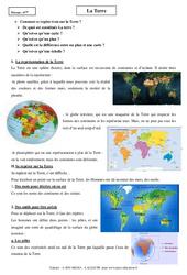Terre – Cours – Géographie : 6eme Primaire