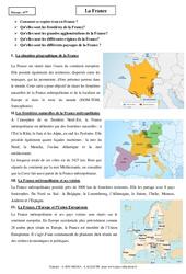 France – Cours – Géographie : 6eme Primaire