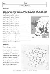 France – Exercices corrigés – Géographie : 6eme Primaire