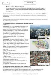 Habiter la ville – Cours – Géographie : 6eme Primaire