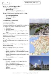 Habiter la ville – Etudes de cas – Géographie : 6eme Primaire