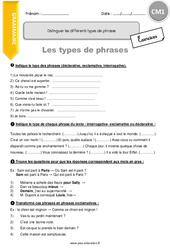 Types De Phrases 4eme Primaire Exercice Evaluation Revision Lecon Pass Education