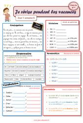 Cahiers de vacances à imprimer – Semaine 6 – Août : 5eme Primaire