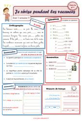 Cahiers de vacances à imprimer – Semaine 8 – Août : 5eme Primaire