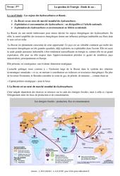 La question de l'énergie – Etude de cas – Géographie : 1ere Secondaire