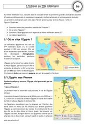 Egypte au IIIe millénaire – Cours – Orient Ancien – Histoire : 6eme Primaire
