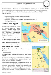 Egypte au IIIe millénaire – Exercices corrigés – Orient Ancien – Histoire : 6eme Primaire