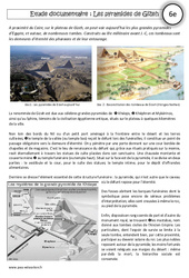 Pyramides de Gizeh – Lecture documentaire – Egypte au IIIe millénaire : 6eme Primaire