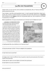 La fête des Panathénées – Etude de cas – Civilisation grecque : 6eme Primaire