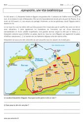 Alexandrie, une ville hellénistique – Etude de cas – Civilisation grecque : 6eme Primaire