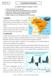 Puissances émergentes – Etude de cas – Géographie : 2eme Secondaire