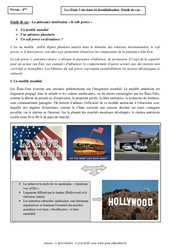 Etats Unis dans la mondialisation – Etude de cas – Géographie : 2eme Secondaire