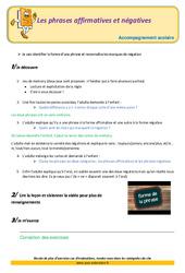 Les phrases affirmatives et négatives – Soutien scolaire – Aide aux devoirs : 3eme Primaire