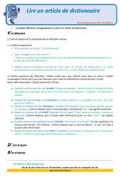 Lire un article de dictionnaire – Soutien scolaire – Aide aux devoirs : 3eme Primaire