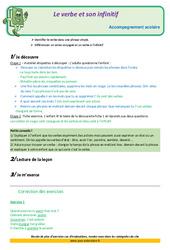 Le verbe et son infinitif – Soutien scolaire – Aide aux devoirs : 3eme Primaire