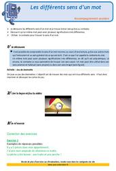 Les différents sens d'un mot – Soutien scolaire – Aide aux devoirs : 3eme Primaire