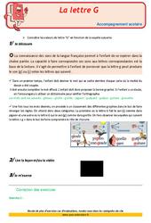 Lettre G – Soutien scolaire – Aide aux devoirs : 3eme Primaire