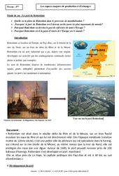 Le port de Rotterdam – Les espaces majeurs de production et d'échanges – Etude de cas : 2eme Secondaire