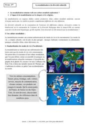 La mondialisation et la diversité culturelle – Cours – Géographie : 2eme Secondaire
