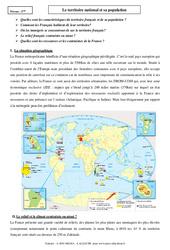 Le territoire national et sa population – Cours – La France : 3eme Secondaire