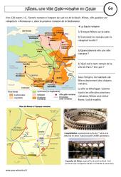 Nîmes – une ville gallo – romaine – Etude de cas – Rome : 6eme Primaire