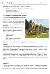 Le tramway de Montpellier – Etude de cas – La France : 3eme Secondaire
