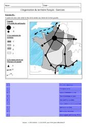 Organisation du territoire français – Exercices corrigés – Géographie : 3eme Secondaire