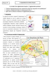 Organisation du territoire français – Etude de cas – Géographie : 3eme Secondaire