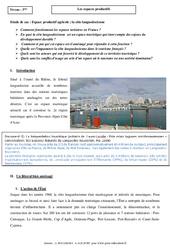 La côte languedocienne – Les espaces productifs – Etude de cas : 3eme Secondaire