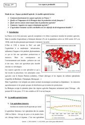 Le modèle agricole breton – Les espaces productifs – Etude de cas : 3eme Secondaire