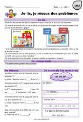 Pourcentages, addition et multiplication – Je lis et je résous des problèmes : 5eme Primaire
