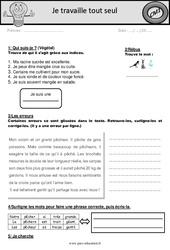 Fichier d'autonomie à imprimer – Elève en répartition : 4eme Primaire