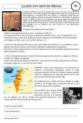 La bible – Etude de cas – Débuts du judaïsme : 6eme Primaire