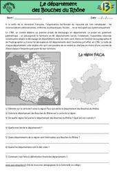 Bouches du Rhône – Etude du département – Géographie : 3eme, 4eme, 5eme Primaire