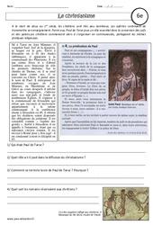 Christianisme – Etude de documents : 6eme Primaire