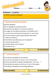 Identifier des phrases interrogatives – Evaluation progressive au CM1